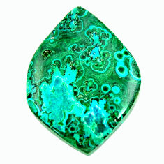 malachite in turquoise green 32x23 mm loose gemstone s17269