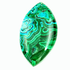 Natural 32.40cts malachite in turquoise green 33x18 mm loose gemstone s17249