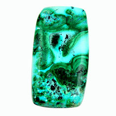 Natural 38.45cts malachite in turquoise green 37x20 mm loose gemstone s17212