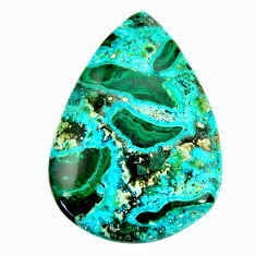 Natural 35.30cts malachite in turquoise green 40x28 mm loose gemstone s17211
