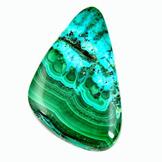 Natural 49.45cts malachite in turquoise green 43.5x25 mm loose gemstone s17215