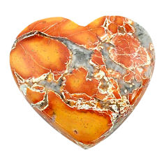 Natural 16.30cts malinga jasper cabochon 20x19 mm heart loose gemstone s24675