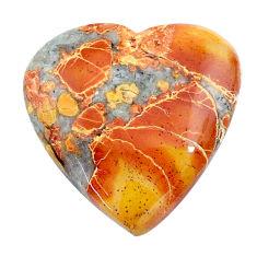 Natural 18.45cts malinga jasper cabochon 21x21 mm heart loose gemstone s24668