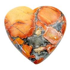 Natural 21.05cts malinga jasper cabochon 22.5x22 mm heart loose gemstone s24656
