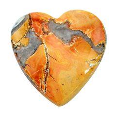 Natural 18.10cts malinga jasper cabochon 22x21 mm heart loose gemstone s24654