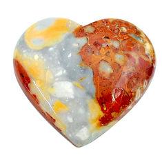 Natural 24.30cts malinga jasper cabochon 23x21 mm heart loose gemstone s24658