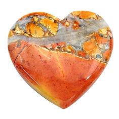 Natural 21.05cts malinga jasper cabochon 24x23 mm heart loose gemstone s24655