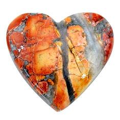 Natural 23.45cts malinga jasper cabochon 25x24 mm heart loose gemstone s24657
