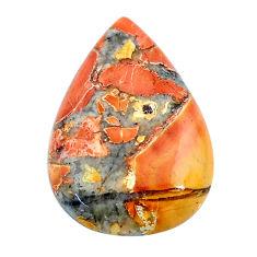 Natural 20.15cts malinga jasper cabochon 27x18 mm pear loose gemstone s24643