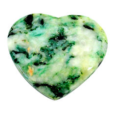 Natural 16.30cts mariposite green cabochon 23x21 mm heart loose gemstone s24818