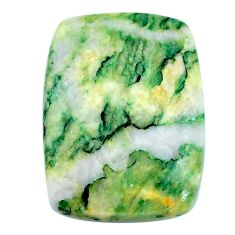 Natural 32.40cts mariposite green cabochon 28x21mm cushion loose gemstone s21499