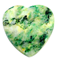 Natural 39.15cts mariposite green cabochon 28x27 mm heart loose gemstone s24812