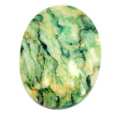Natural 34.45cts mariposite green cabochon 29x22 mm oval loose gemstone s21486