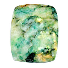 Natural 40.15cts mariposite green cabochon 30x23mm cushion loose gemstone s21474