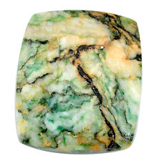 Natural 39.45cts mariposite green cabochon 30x25mm cushion loose gemstone s21497