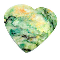 Natural 30.10cts mariposite green cabochon 30x27.5mm heart loose gemstone s21467