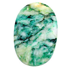 Natural 27.40cts mariposite green cabochon 31x19 mm oval loose gemstone s24804