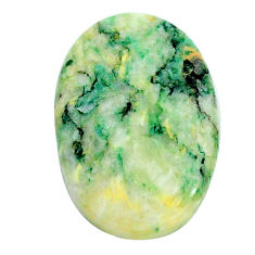 Natural 35.30cts mariposite green cabochon 31x21 mm oval loose gemstone s24802