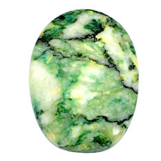 Natural 35.15cts mariposite green cabochon 31x22 mm oval loose gemstone s21483
