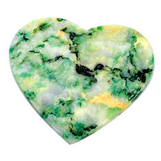 Natural 31.30cts mariposite green cabochon 31x27 mm heart loose gemstone s24811