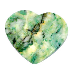 Natural 29.45cts mariposite green cabochon 32.5x28mm heart loose gemstone s21470