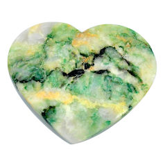 Natural 33.45cts mariposite green cabochon 32.5x28mm heart loose gemstone s21494