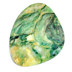 Natural 31.35cts mariposite green cabochon 32x25 mm fancy loose gemstone s21489