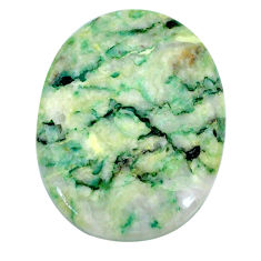 Natural 38.45cts mariposite green cabochon 32x25 mm oval loose gemstone s21484