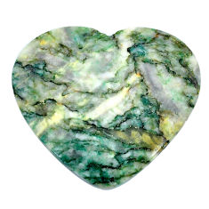 Natural 35.10cts mariposite green cabochon 33.5x30mm heart loose gemstone s21468