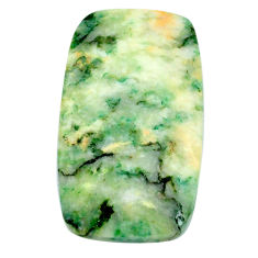 Natural 38.20cts mariposite green cabochon 33x20mm octagan loose gemstone s21475
