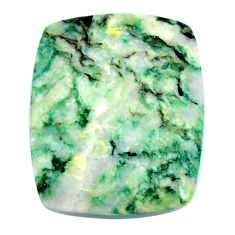 Natural 45.15cts mariposite green cabochon 33x28mm cushion loose gemstone s21480