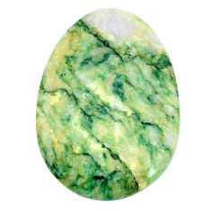 Natural 46.30cts mariposite green cabochon 39x27 mm oval loose gemstone s21461