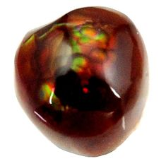 Natural 11.30cts mexican fire agate cabochon 12.5x12 mm loose gemstone s16219