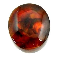 mexican fire agate cabochon 13.5x12 mm loose gemstone s16217