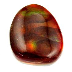 Natural 10.05cts mexican fire agate cabochon 16x13mm fancy loose gemstone s16199
