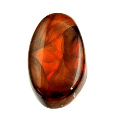 Natural 8.45cts mexican fire agate cabochon 17x10 mm loose gemstone s16209