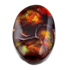Natural 7.10cts mexican fire agate cabochon 17x11 mm fancy loose gemstone s19224