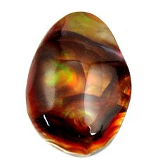 Natural 9.20cts mexican fire agate cabochon 18x12 mm fancy loose gemstone s16200