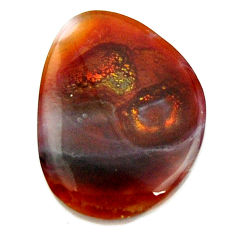mexican fire agate cabochon 19x15 mm loose gemstone s16162