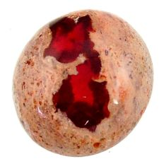 Natural 15.10cts mexican fire opal cabochon 17.5x16mm oval loose gemstone s16250