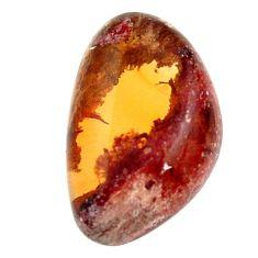 mexican fire opal cabochon 18x11.5mm fancy loose gemstone s16229