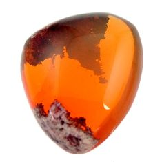 Natural 15.10cts mexican fire opal cabochon 20x16.5 mm loose gemstone s16231