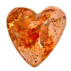 Natural 17.25cts mexican fire opal cabochon 24x23 mm heart loose gemstone s16230