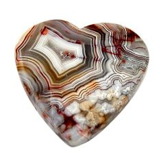 Natural 11.30cts mexican laguna lace agate 18.5x18.5 mm loose gemstone s17409