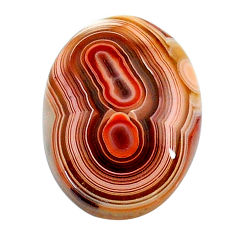 Natural 13.40cts mexican laguna lace agate 20x15 mm oval loose gemstone s24733