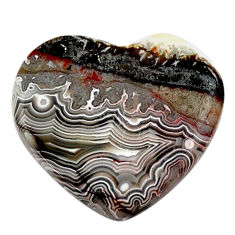 Natural 10.15cts mexican laguna lace agate 20x18.5mm heart loose gemstone s17419