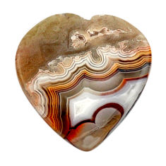 mexican laguna lace agate 20x19 mm heart loose gemstone s17415