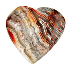 Natural 14.45cts mexican laguna lace agate 20x20 mm heart loose gemstone s17406