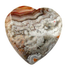Natural 13.25cts mexican laguna lace agate 20x20 mm heart loose gemstone s17410