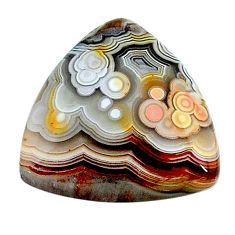 Natural 14.35cts mexican laguna lace agate 20x20 mm loose gemstone s24734